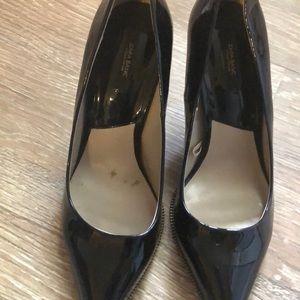 Zara black shoes worn